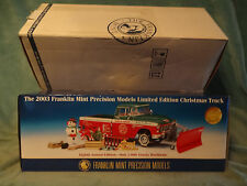 "2003 Franklin Mint-"" Christmas Truck "" 1955 Chevrolet Cameo Pickup 1/24 Die-Cast"