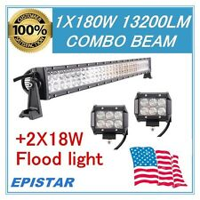 32''INCH 180W SUV LAMP LED WORK LIGTH BAR COMBO COME WITH 2X18W FLOOD LED LIGHTS