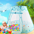 New Portable Blue Folding Play Tent Kids Girl Princess Castle Fairy Cubby House