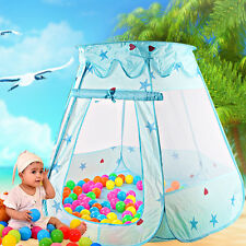 Pop Up Play House Kids Tent Children Indoor Outdoor Princess Castle Blue Girl