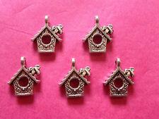 Tibetan Silver Bird House charm 5 per pack