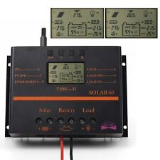 60A LCD Solar Battery Regulator Charge Discharge Controller 12V 24V With USB AB