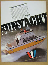 1978 Wellcraft 255 Sunyacht boat yacht photo vintage print Ad