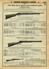 1930 ADVERT Remington Rifle Bear Moose Repeating Rifle Model 14 Winchester 94