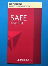 DELTA AIRLINES 757-200 DOMESTIC SAFETY CARD-- LATEST VERSION