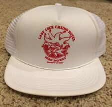 Vtg Snapback Lady Luck Defunct Casino Las Vegas Mesh Cap Hat Trucker Mad Money