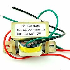 10W dual 12V 10W 2*12V power transformer input 220V 50Hz/output 12V