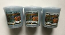 Yankee Candle CRISP MORNING AIR LOT OF 3 WRAPPED VOTIVES AUTUMN FALL SCENT