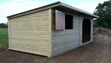 12 X 24 STABLE / SHELTER COMBI HORSE FIELD / TANALISED / PRESSURE TREATED