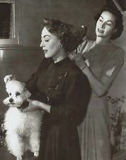 Joan Crawford with Poodle 8x10 photo R3026