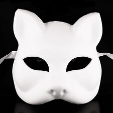 White Blank Cat DIY Women Masquerade Mask Mardi Gras Unisex Halloween