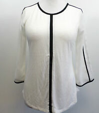 OASIS Piped blouse White Medium Box7527 Q