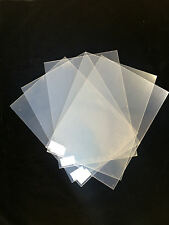 Pack Of 5 Clear Plastic Sheets 295 x 210 x 0.25mm
