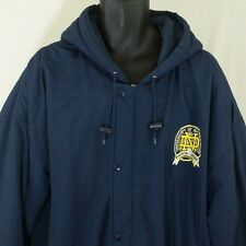 Notre Dame Starter Jacket Vtg Fighting Irish NCAA Full Zip Snap Blue Mens Sz XL