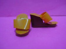 Vtg Barbie Superstar 70s 80s Doll ACCESSORY SHOES Yellow WEDGE KOREA #7