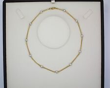 Necklace - 18Kt Yellow and White Gold Chain  -10.10 grams