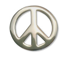 Cool Peace Sign Jacket or Hat Pin Polished Silver Finish Pewter P-71
