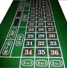 6 FT Roulette Felt Baize / Layout - Huge Playing area - DARK RED DEFECT