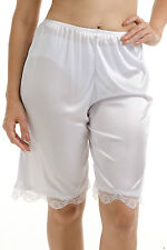 "Short 20"" Length Women Mini Pettipants Slip Ladies White Size XL Bloomer 150"
