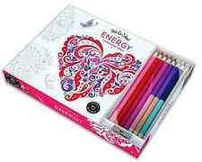 NEW Vive Le Color Energy (adult Coloring Book And Pencils): Color Therapy Kit