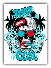 "That Ain't Cool Skull Glasses Car Bumper Sticker Decal 4"" x 5"""