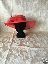 Ladies Race sinamay hat for wedding, party,church or any special occasion