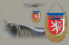 CZECH REPUBLIC REAR VIEW MIRROR WORLD FLAG CAR BANNER PENNANT