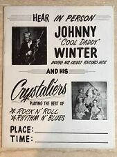 Johnny Winter Rare & Early 60s  Board Concert Poster