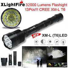 XLightFire 32000LM 13x CREE XML T6 5Mode 18650 Taschenlampen LED Flashlight