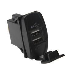 WOW - Dual Port USB Charger Socket Blue Backlit Rocker Panel for Car Boat Truck
