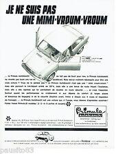PUBLICITE ADVERTISING 066  1967  la Primula coupé Autobianchi