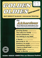 Akkordeon Noten : Golden Oldies 11 - mittelschwer - m. 2. Stimme (ad  lib) ECORA