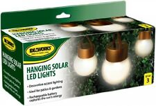 IdeaWorks JB6638 Hanging Solar Led Lights, copper and Frosted, New