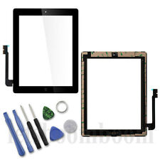 Schwarz für iPad 3 Display Touch screen Homebutton Front Glas Scheibe Digitizer