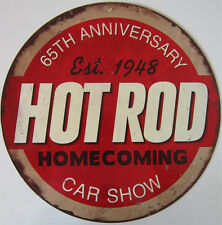 Hot Rod 65th Anniversary Metal Sign