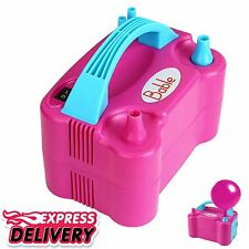 Portable Dual Nozzle Air Blower Electric Party Balloon Pump Inflator Compressor