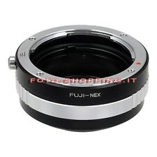 ADATTATORE FUJICA SONY NEX ADAPTER ANELLO LENS RING CAMERA MOUNT A6300 A6000 A7R
