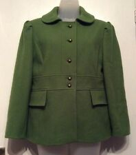 M&S green jacket wool blend size 14