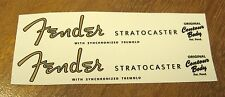 2 Fender Stratocaster Headstock Waterslide Decal Strat Vintage Guitar Neck 54-64