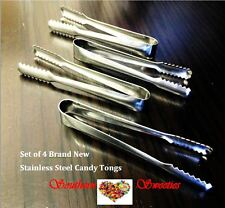 4 x CANDY TONGS lollies candy buffet serving Stainless Steel