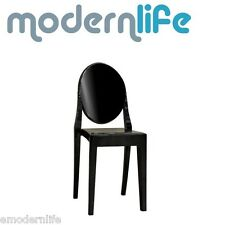 modern victoria ghost dining chair philipe starck design : black
