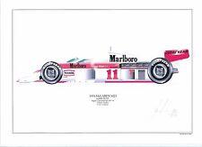 James Hunt ltd.ed.signed art print signed/numbered by artist-1976 McLaren M23