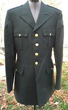 ARMY GREEN DRESS UNIFORM MILITARY JACKET DPSC K&D CLOTHING CO MENS 42 LONG 42L