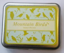 Rubber Stamp Collection Tin 9 Stamps Foam Backed Mountain Birds