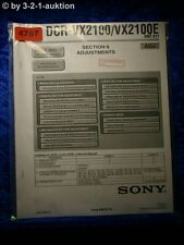 Sony Service Manual DCR VX2100 /VX2100E ADJ Digital Video Camera (#4787)