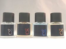 PLAYBOY-SET OF 4- HOLLYWOOD-MALIBU-MIAMI-VEGAS-EAU DE TOILETTE-.67 OZ EA-NWOB