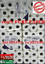 288 TOILET ROLLS 2PLY 320 SHEET TISSUE LUXURY QUILTED PAPER 8 CASES SUPER JUMBO