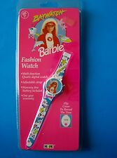 1995 BAYWATCH BARBIE FASHION WATCH Quartz Digital Flip Cover  Mint in Package