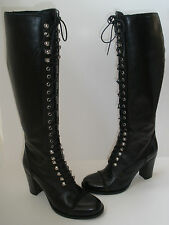 CHARLES DAVID GRANNY REGIMENT LEATHER BOOTS SIZE US 5.5 HOT $495 MADE IN ITALY