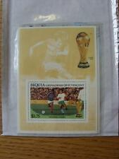 1986 World Cup Stamp Sheet: Bulgaria v France Action (Bequia)